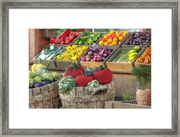 Fruit And Veggie Display Framed Print