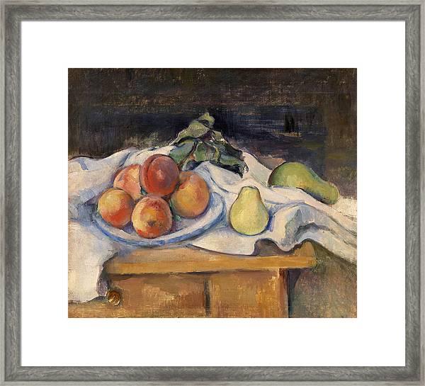 Fruit On A Table Framed Print