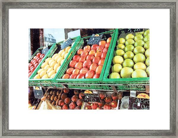 Fruit Stand Framed Print by Bob Senesac