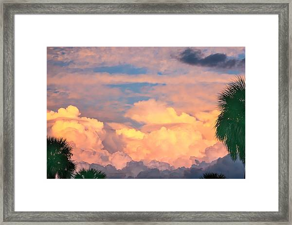 Ft De Soto Sunset Clouds Framed Print