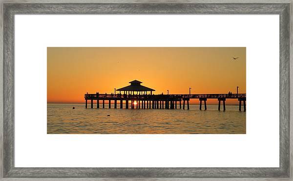 Ft. Myers Pier Framed Print