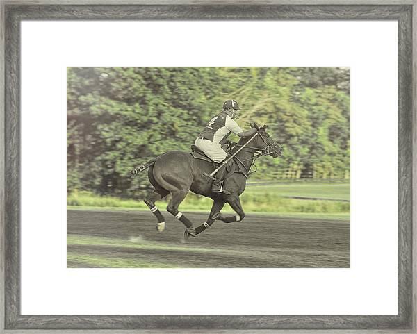 Full Gallop Polo Framed Print