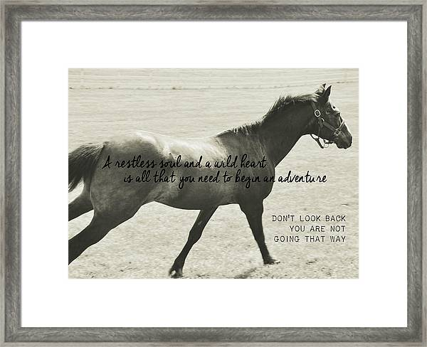 Full Gallop Quote Framed Print
