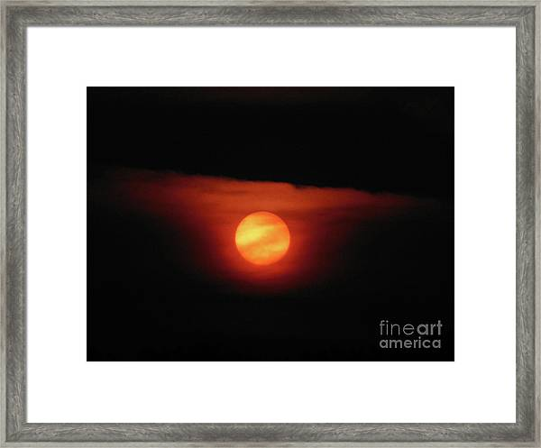 Full Harvest Moon Framed Print