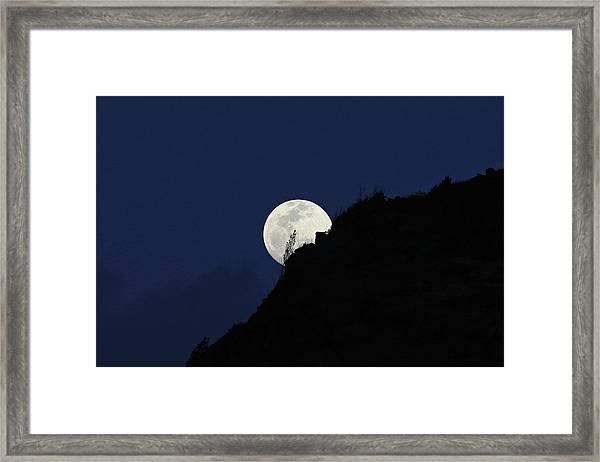Full Moon Behind Makapu'u Framed Print