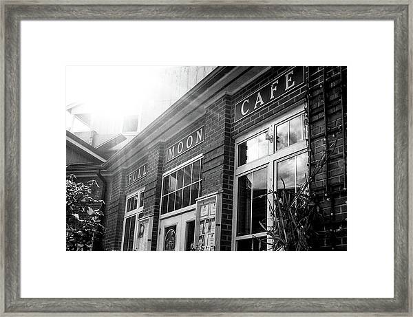 Full Moon Cafe Framed Print