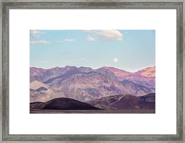 Full Moon Over Artists Palette Framed Print