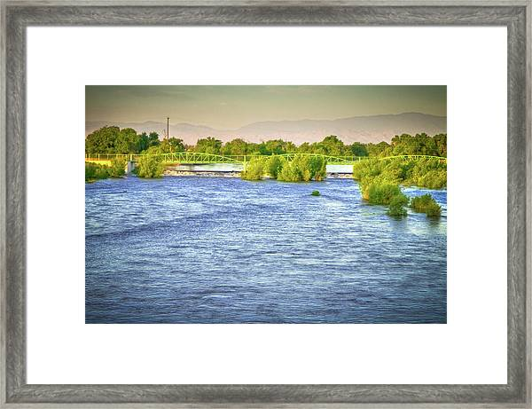 Full River Framed Print by Connie Cooper-Edwards