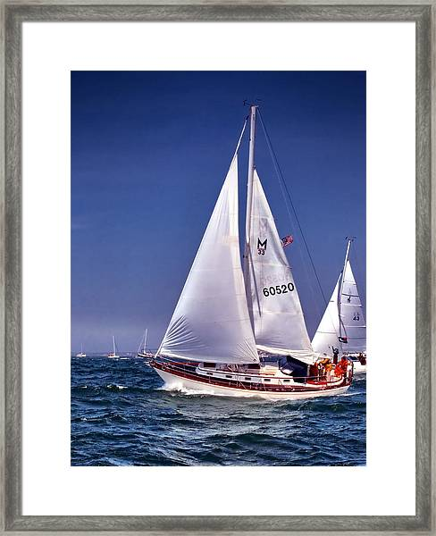 Full Sail Ahead Framed Print