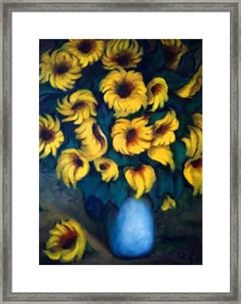 Fun Sun Flowers Framed Print
