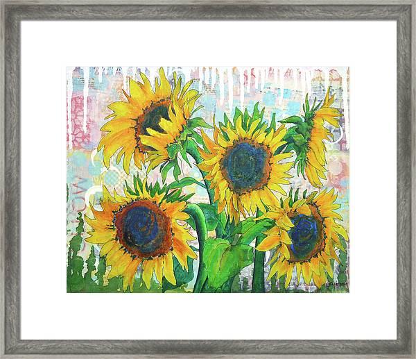 Funflowers Framed Print