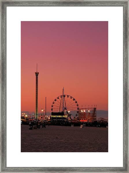 Funtown Pier At Sunset II - Jersey Shore Framed Print