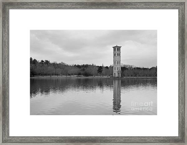 Furman Bell Tower 4 Bw Framed Print