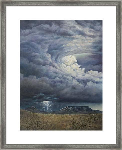 Fury Over Square Butte Framed Print