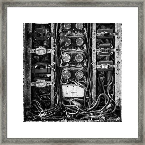 Fuse Box Framed Print