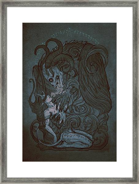 Fusion Framed Print by Cambion Art