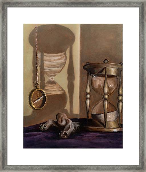 Framed Print featuring the painting Futility by Break The Silhouette