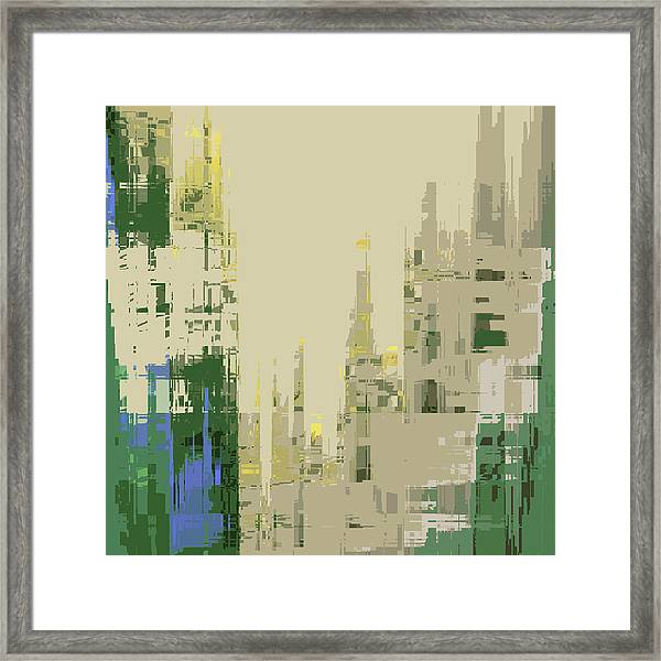 Framed Print featuring the digital art Futura Circa 66 by Gina Harrison