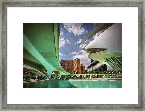 Futuristic Architecture Of Valencia Spain  Framed Print