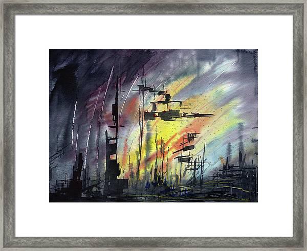 Futuristic Cityscape Framed Print