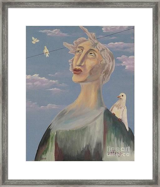 Fyodor Framed Print by Ushangi Kumelashvili