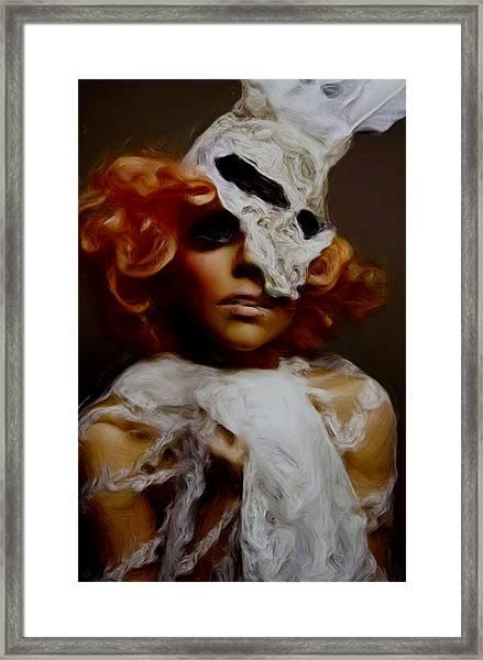 Gaga In White Framed Print