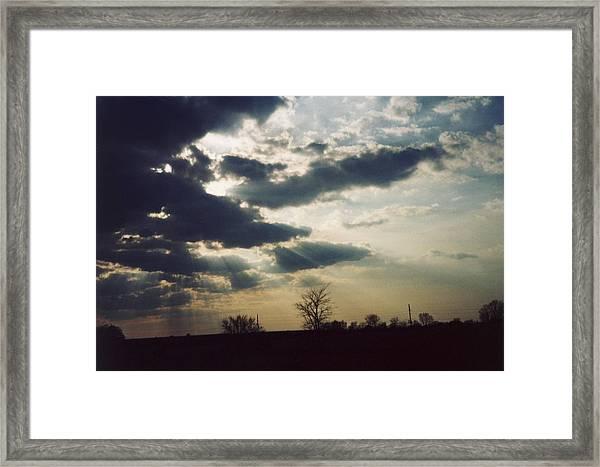 Gahanna Ohio Landscape Framed Print by Gene Linder