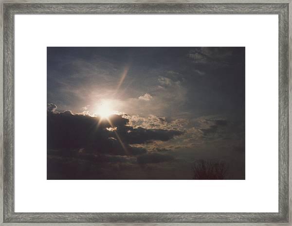 Gahanna Sky Ohio Framed Print by Gene Linder