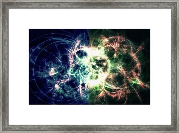 Gaia Awake #art #abstract #digitalart Framed Print by Michal Dunaj