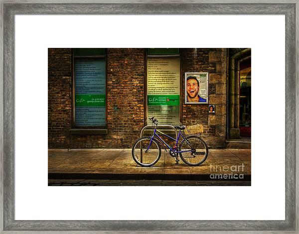 Gaiety Bicycle Framed Print