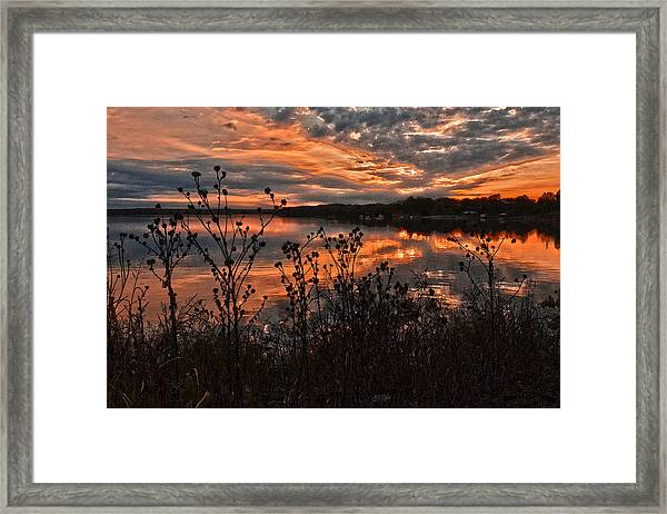 Gainesville Sunset 2386w Framed Print