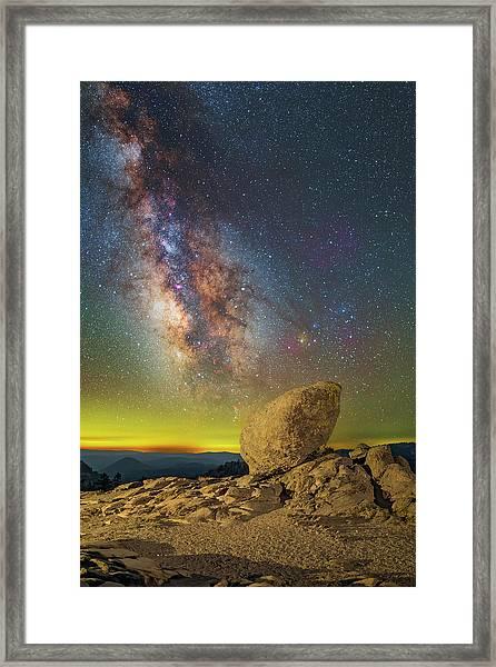 Galactic Erratic Framed Print
