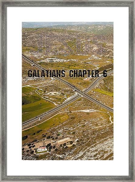 Galatians Chapter 6 Framed Print