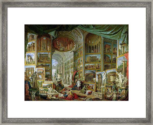 Gallery Of Views Of Ancient Rome Framed Print