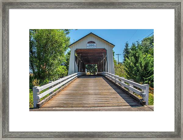 Gallon House Covered Bridge Framed Print