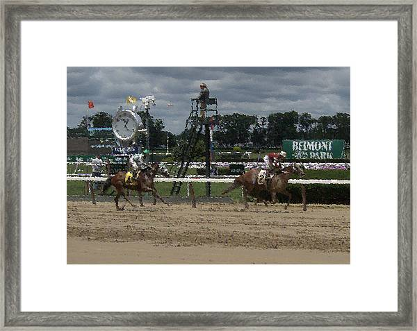 Galloping Out Painting Framed Print