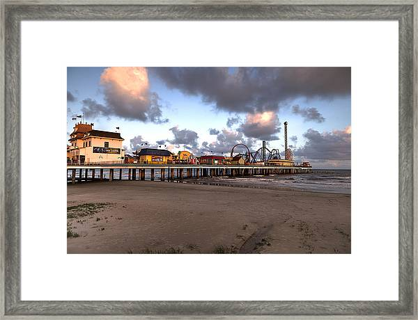 Galveston Island Historic Pleasure Pier Framed Print
