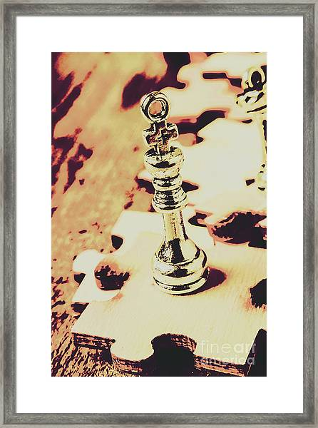Games And Puzzles Framed Print