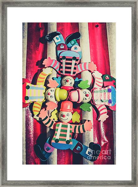 Games Room Of Wooden Circus Play Framed Print