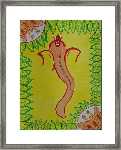 Ganadevta Framed Print