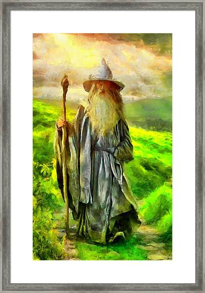 Gandalf, The  Grey Framed Print