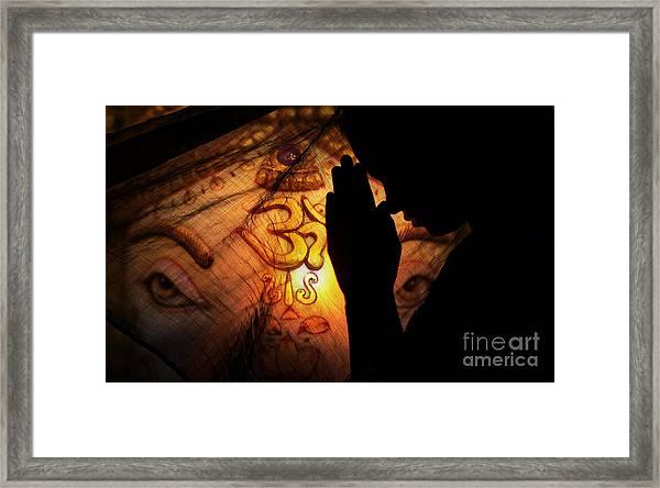 Ganesha Dreams Framed Print