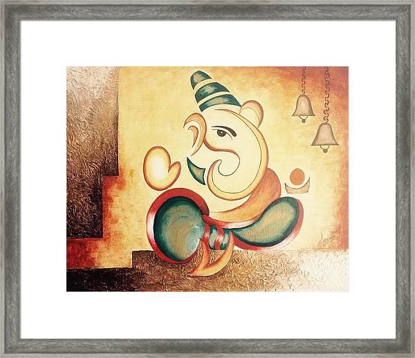 Ganesha's Blessing Framed Print