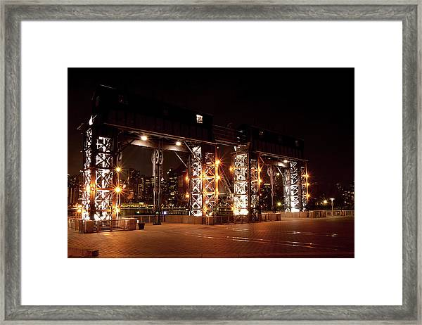 Gantry Nights Framed Print