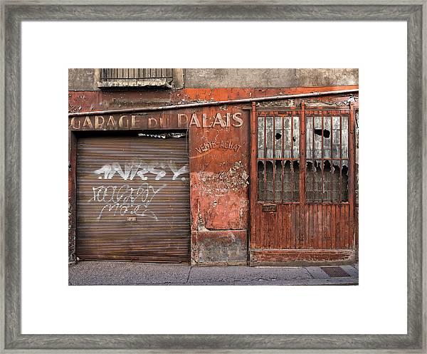 Garage Du Palais Framed Print