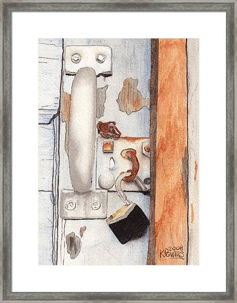 Garage Lock Number Three Framed Print