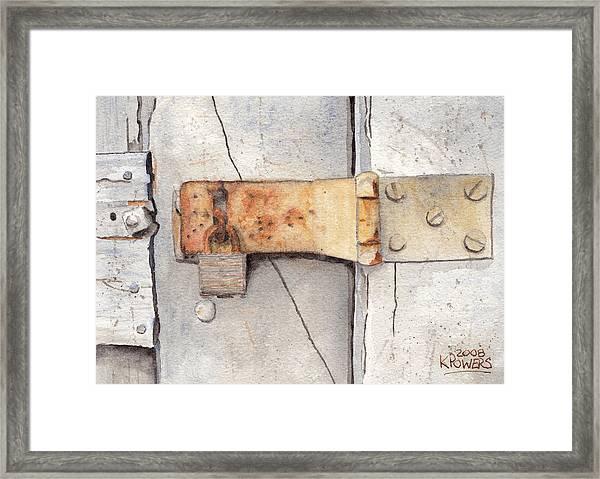 Garage Lock Number Two Framed Print