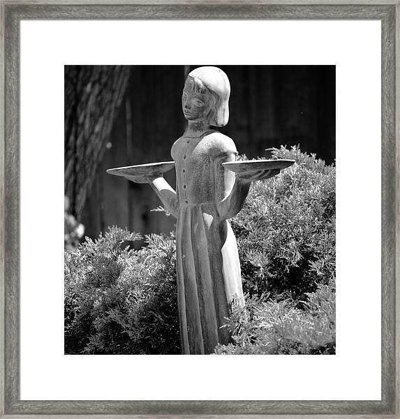 Garden Angel Framed Print