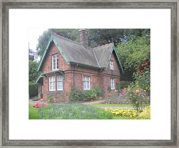 Garden At Scotland Framed Print