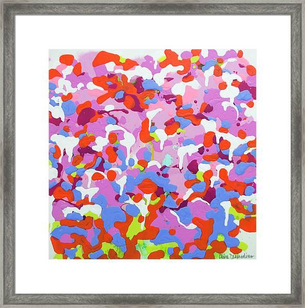 Garden Camo Framed Print